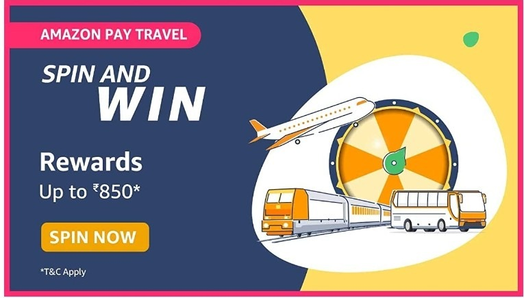 Amazon Spin and Win Pay Travel Answers