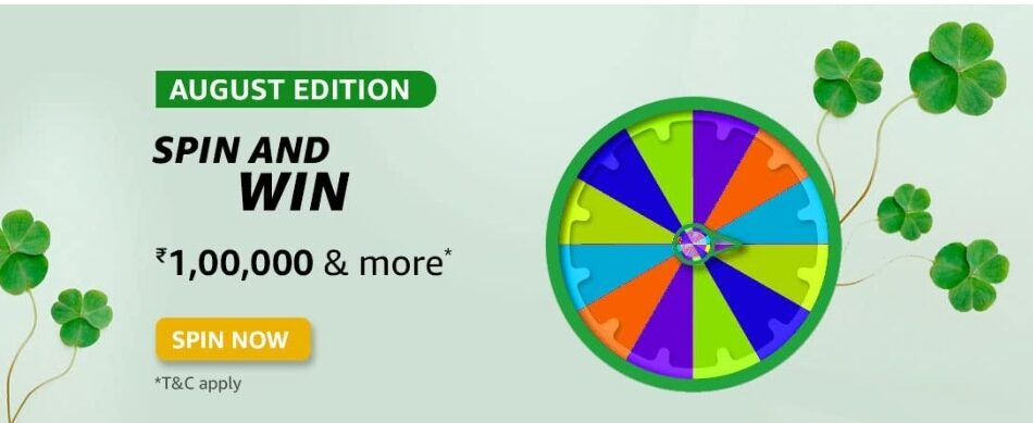 Amazon Spin and Win August Edition Answers