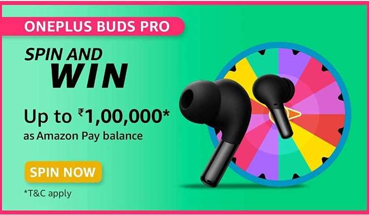 Amazon Spin and Win Oneplus Buds Pro Quiz Answer