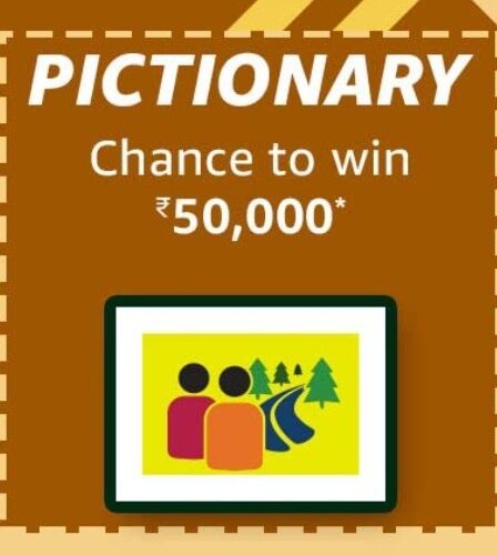 Amazon Funzone August Carnival Pictionary Quiz Answers Win Rs. 50,000 Pay Balance