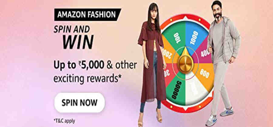 Amazon Fashion Spin and Win Quiz Answer